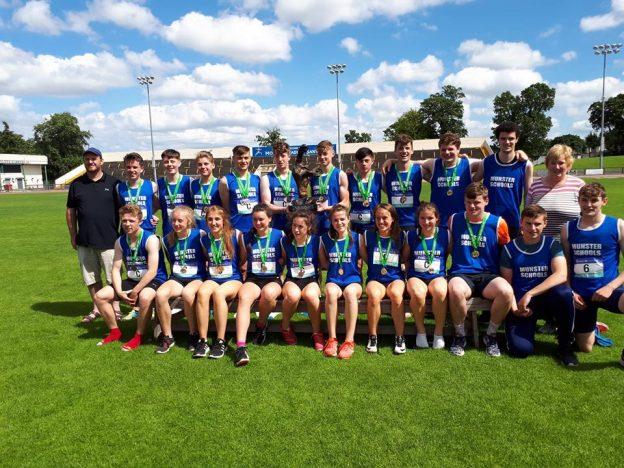 munster excel at tailteann games munster schools athletics association
